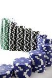 trappuppgång för poker s för chipkurva ledande upp Arkivbild