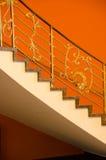 Trappuppgång i apelsin Royaltyfri Fotografi