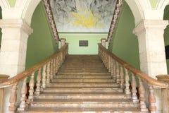 Trappuppgång i den regerings- slotten, Merida, Mexico Royaltyfri Foto