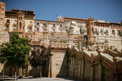 Trappuppgång i Teruel arkivfoto