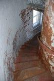 Trappuppgång i vågbrytare fyr, Lewes, Delaware Arkivfoto
