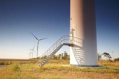 Trappuppgång i vindturbinen Royaltyfria Foton