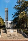 Trappuppgång med domkyrkan i Nelson Royaltyfri Bild