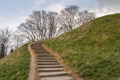 Trappuppgång på en kulle Royaltyfria Bilder