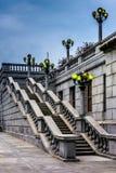 Trappuppgång på Kapitoliumkomplexet i Harrisburg, Pennsylvania Royaltyfri Bild