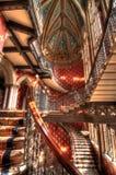 Trappuppgång på renässanshotellet, konungs kors Royaltyfri Foto