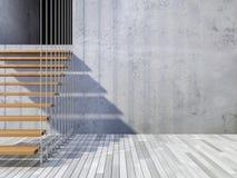 trappuppgång som 3d hängs av kablar Arkivbild