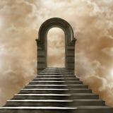 Trappuppgång som för till himmel eller helvete Royaltyfria Foton