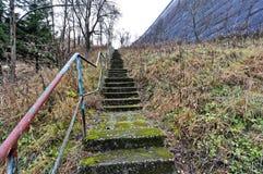 Trappuppgång som heading till den bästa kullen Royaltyfri Foto