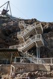 Trappuppgång till den Anacapa ön i sydliga Kalifornien arkivfoto