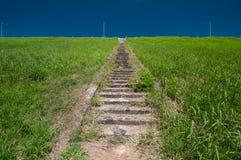 Trappuppgång till den högsta punkten Royaltyfri Fotografi