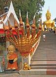 Trappuppgång till den stora Buddha Royaltyfri Fotografi