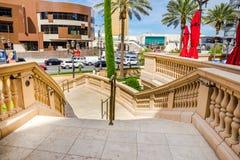 Trappuppgång till Las Vegas Boulevard Royaltyfri Foto