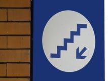 Trappuppgången undertecknar in Italien Arkivbild