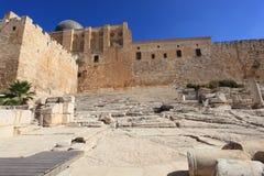 Trappuppgång till de Hulda portarna & alen-Aqsa Royaltyfri Bild