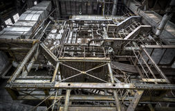 trappuppgång uppför trappan Arkivbild