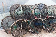 Traps for capture fisheries and seafood. Empty Traps for capture fisheries and seafood Royalty Free Stock Photo