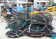 Traps for capture fisheries and seafood Royalty Free Stock Image