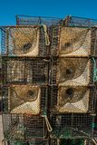 Traps for catching octopus and fish in the sea, close-up. Stock Images