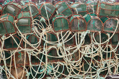 Traps for octopuses stacked Royalty Free Stock Photos