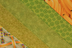 Trapunta blocco-gialla e verde Fotografia Stock