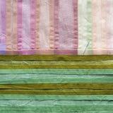 Trapunta nei toni verdi e rosa Fotografia Stock Libera da Diritti