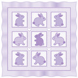 Trapunta piccola dei coniglietti Fotografia Stock Libera da Diritti