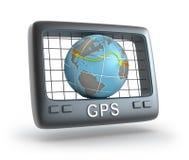 Traqueur du monde de GPS Images libres de droits