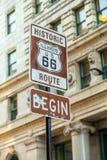 Trasa 66 podpisuje wewnątrz Chicago Fotografia Stock