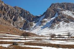 Trascau Mountains. Winter image with rocks, snow and blue sky in Trascau Mountains,Transylvania,Romania Stock Images