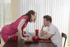 Trascuratezza del marito Fotografie Stock