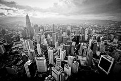 Trascuratezza della città Kuala Lumpur Fotografie Stock