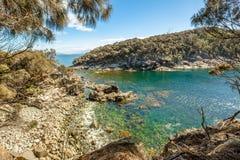 Trascuri il trekking nell'isola di Bruny Fotografia Stock Libera da Diritti