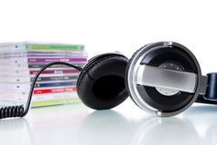 Trasduttore auricolare e Cd immagine stock libera da diritti