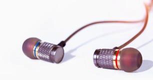 Trasduttore auricolare su fondo bianco Fotografia Stock Libera da Diritti