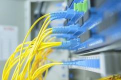 Trasferimento di dati da a fibra ottica Fotografia Stock Libera da Diritti