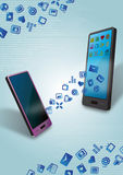 Trasferimento di dati mobile Immagine Stock