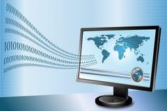 Trasferimento di dati via il Internet Fotografie Stock Libere da Diritti