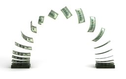 Trasferimento di denaro Immagine Stock Libera da Diritti