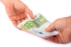 Trasferimento di denaro Fotografie Stock Libere da Diritti