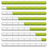 Trasferisca il verde dal sistema centrale verso i satelliti della barra Fotografia Stock