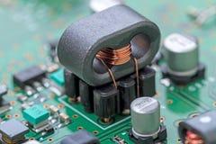 Trasformatore ad alta frequenza della ferrite Fotografia Stock Libera da Diritti