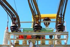 Trasformatore ad alta tensione elettrico Fotografie Stock Libere da Diritti