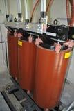 Trasformatore arancio della resina fotografia stock libera da diritti