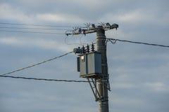 Trasformatore di elettricità, condensatore, alta tensione fotografia stock libera da diritti