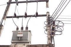 Trasformatore elettrico ad alta tensione di CA immagine stock