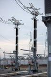 Trasformatore elettrico ad alta tensione in sottostazione Immagine Stock Libera da Diritti