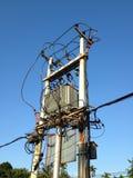 Trasformatore elettrico di Palo Immagine Stock