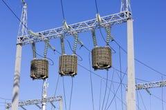 Trasformatori di alta energia nel cielo Immagine Stock