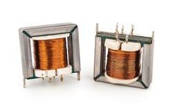 Trasformatori elettrici fotografia stock libera da diritti